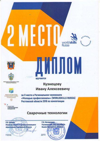 Диплом Кузнецов Иван Алексеевич